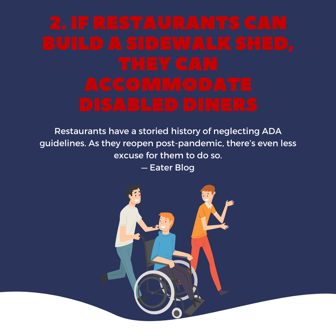 5 things to know this week, disability in restaurant access post-Covid - July 15, 2021