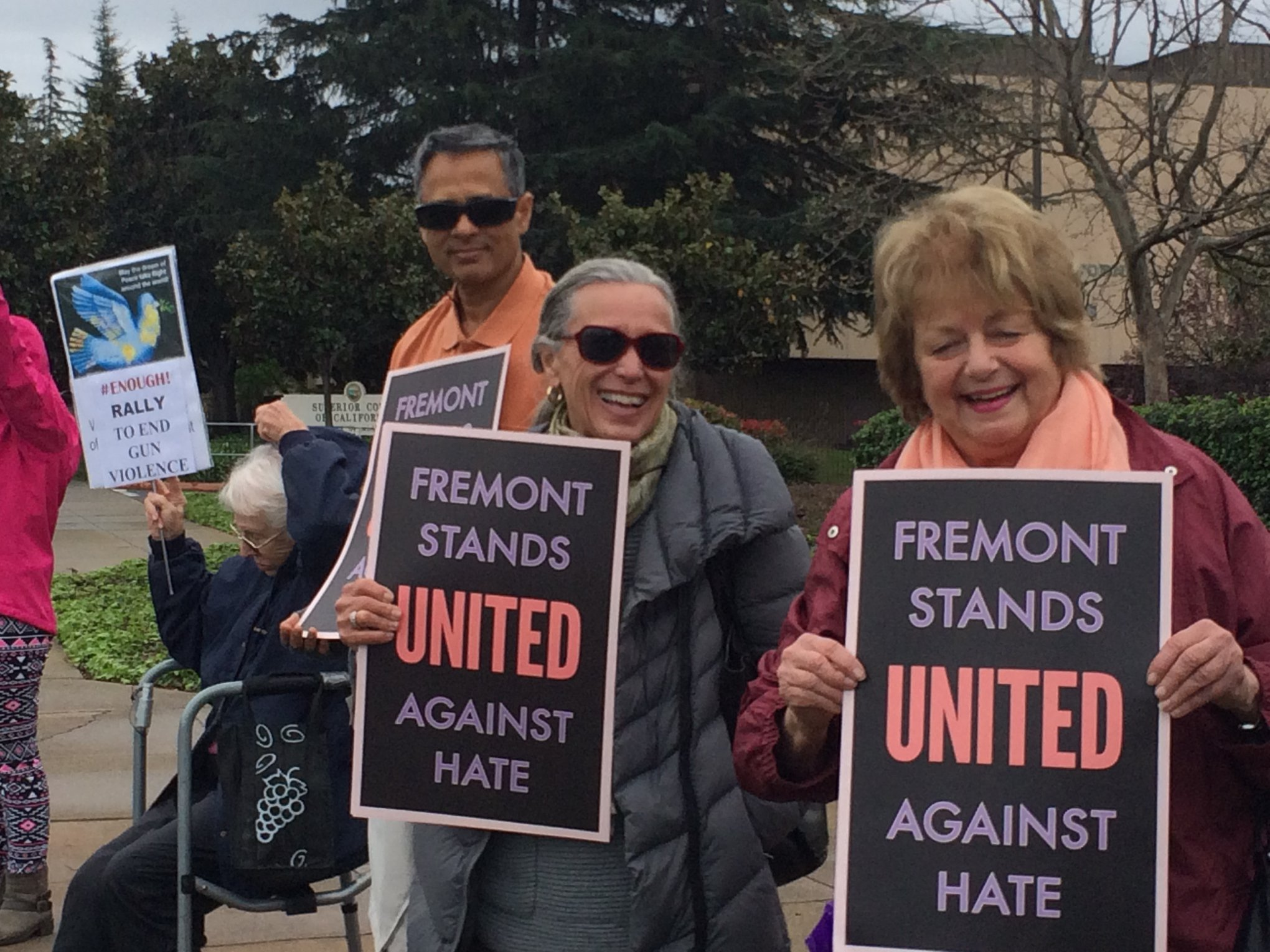 Residents of Fremont stand united against hate