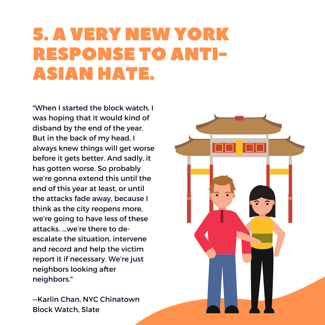 Five things to know this week: A Very New York Response to Anti-Asian Hate. April 16, 2021