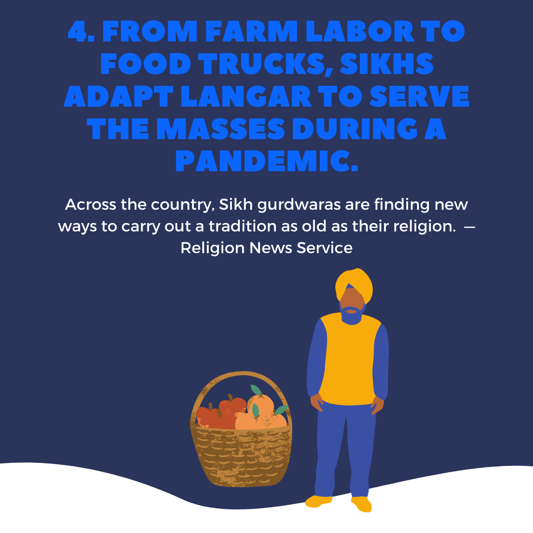 Across the country, Sikh gurdwaras are finding new ways to carry out a tradition as old as their religion.  — Religion News Service