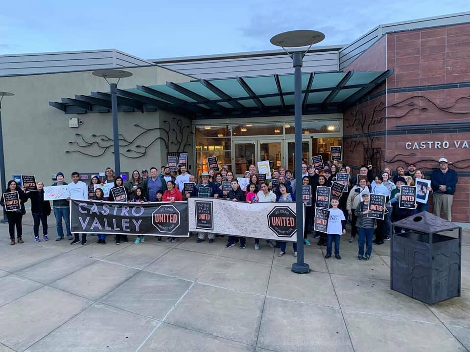 Castro Valley Stands UNITED Against Hate, Castro Valley Stands UNITED With Christchurch.