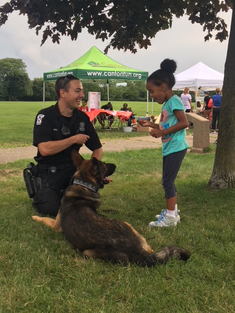 Residents of Canton, OH at this year's National Night Out, August 7, 2018.