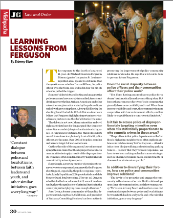 Learning Lessons from Ferguson