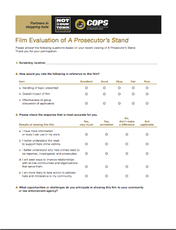 A Prosecutor's Stand Evaluation