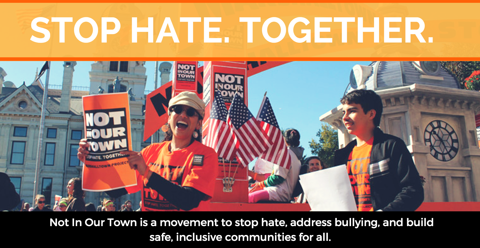 NIOT — Stop. Hate. Together. banner