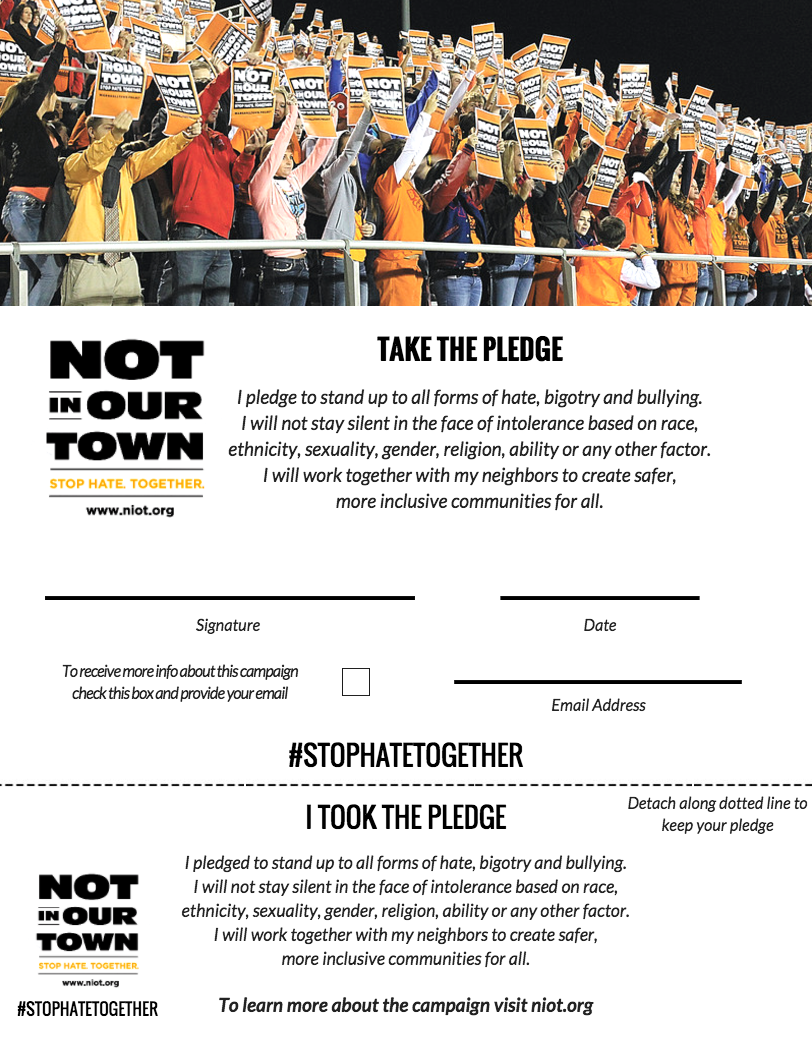 Take the Pledge | Not in Our Town