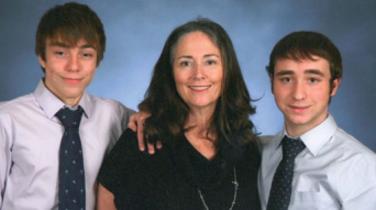 Micaela Presti and her sons