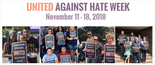 United Against Hate Week - November 11 - 18, 2018 — banner