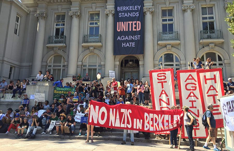 Berkeley, California stands united against hate.