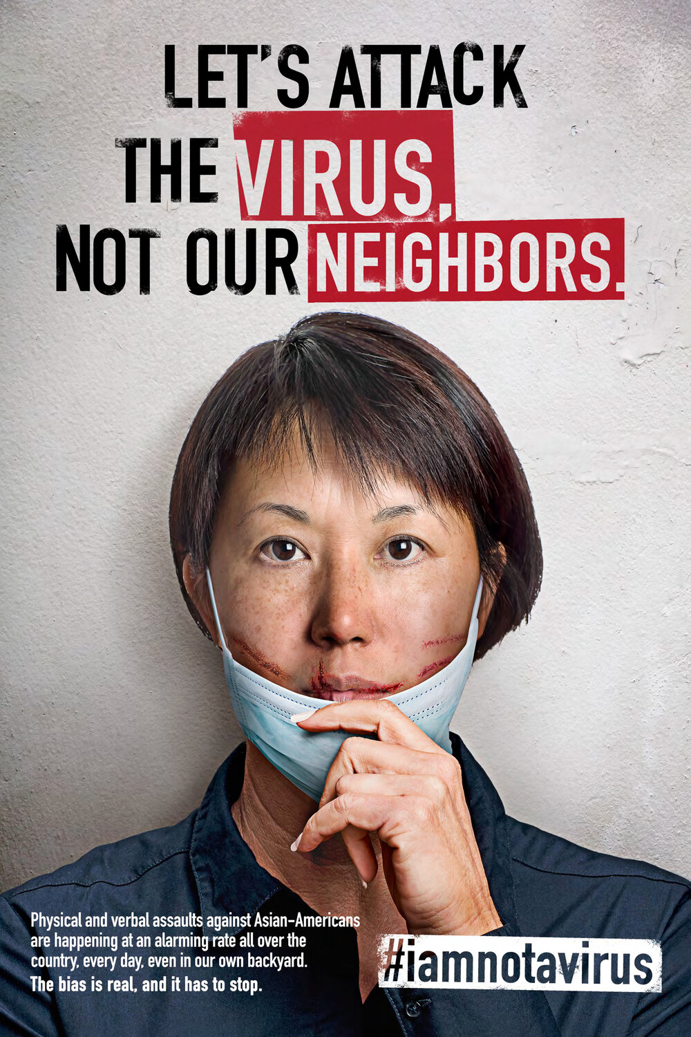 Poster - Let's Attack the Virus, Not Our Neighbors