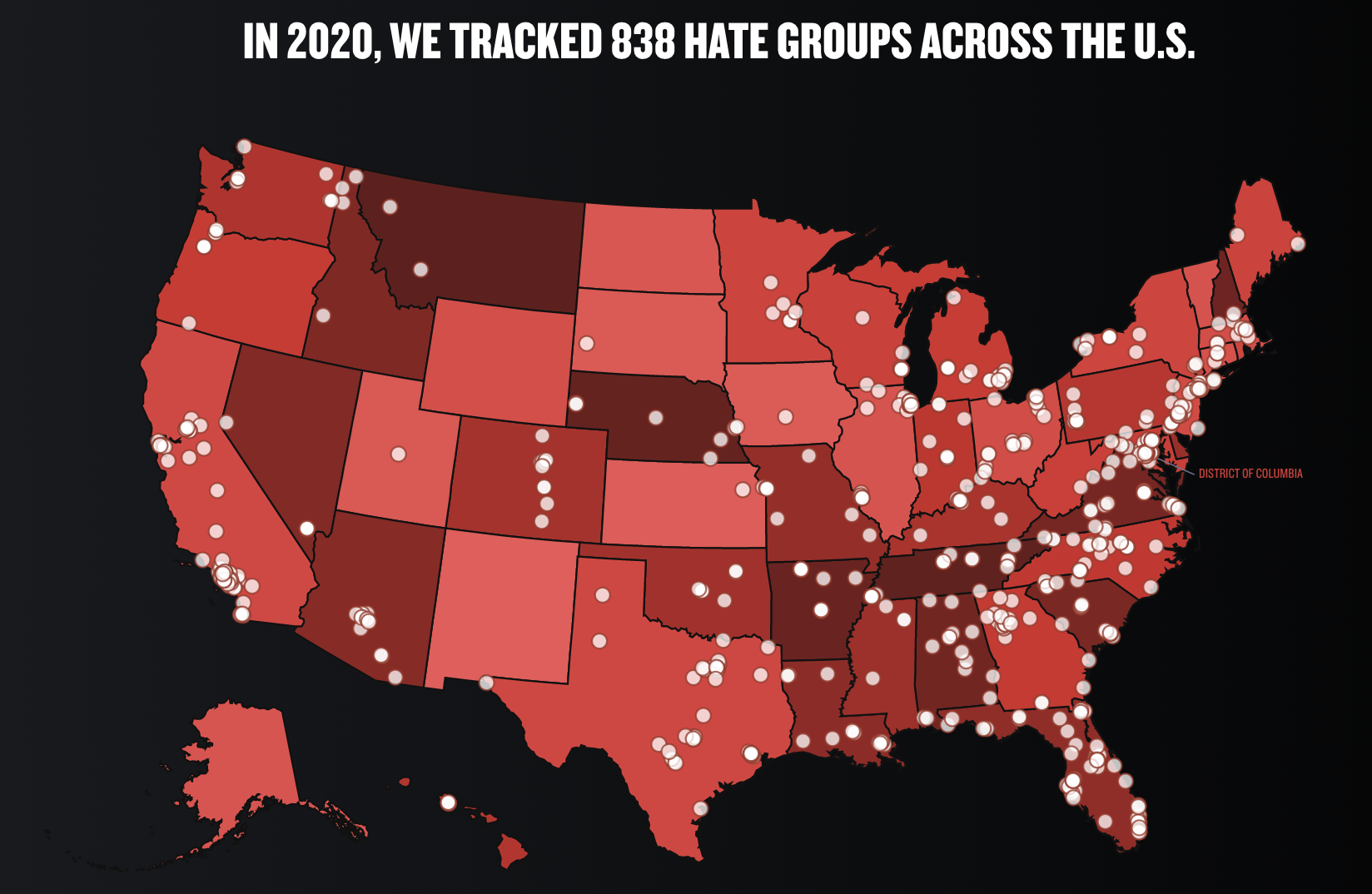 Southern Poverty Law Center - Tracking Hate Groups Map