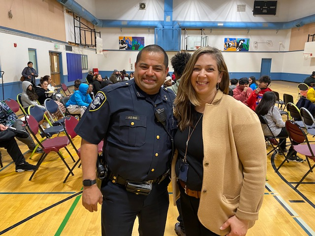 Seattle Assistant Police Chief Anthony Diaz and Bias Crime Coordinator Detective Elizabeth Wareing