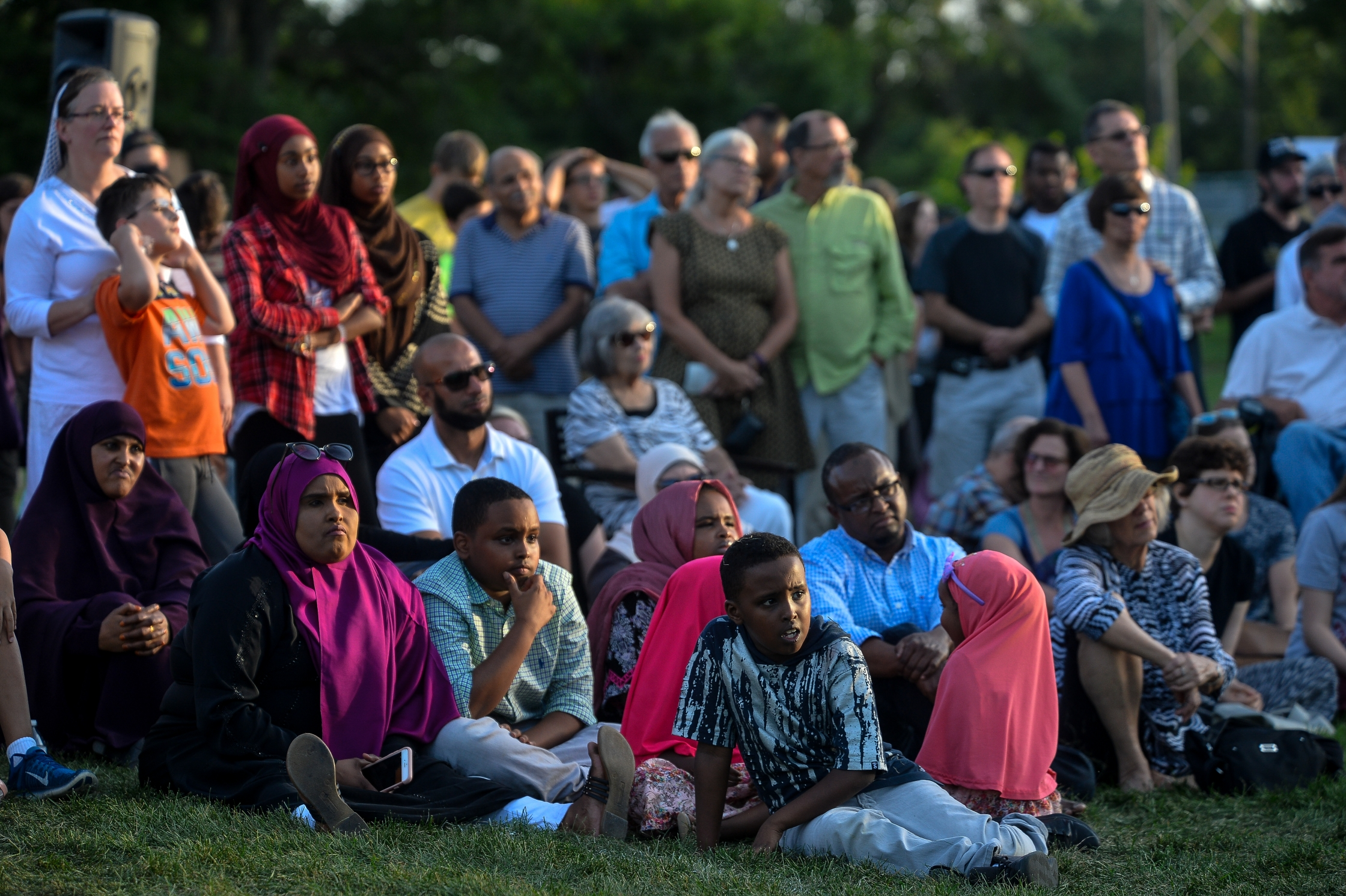 community solidarity after a mosque is targeted in bloomington