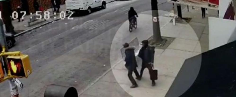 A 22-year-old Yeshiva student was punched in the face in Crown Heights, Brooklyn, while walking down the street and talking on the phone. A few hours later, a 51-year-old man was beaten so badly by the same assailants that he was hospitalized. All three assailants were arrested and charged. (Image from police camera)