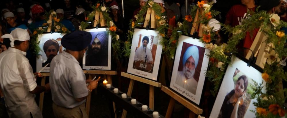 Paramjit Kaur, Suveg Singh Khattra, Satwant Singh Kaleka, Prakash Singh, Ranjit Singh, and Sita Singh were murdered that day. Three other people were seriously injured. Photo credit: Kajal Magazine