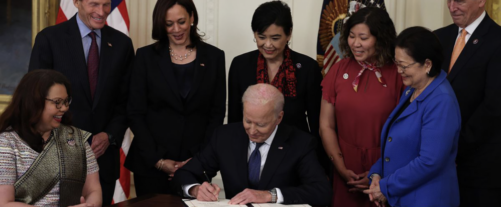President Biden signed the Covid-19 anti-hate act on May 20, 2021.