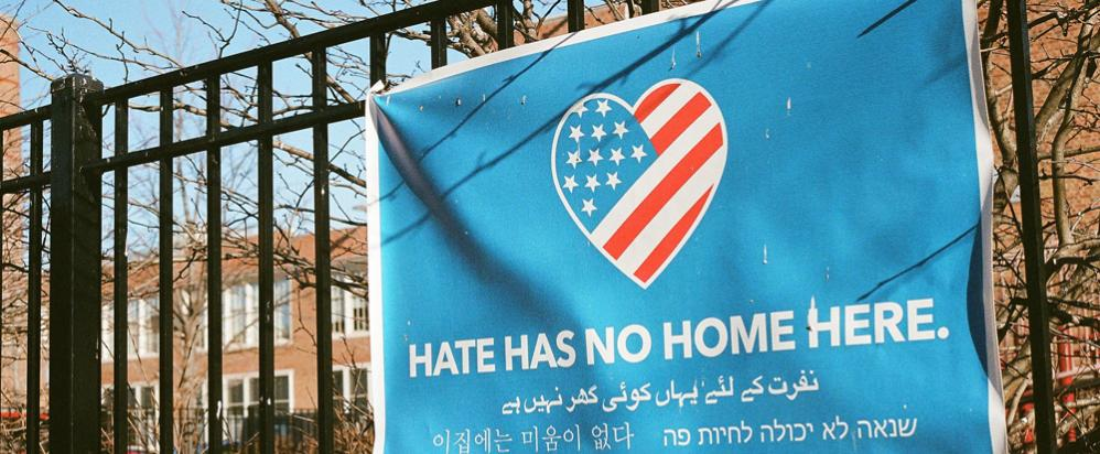 Photo of 'Hate has no home here' by Spablab, Flickr CC 2.0