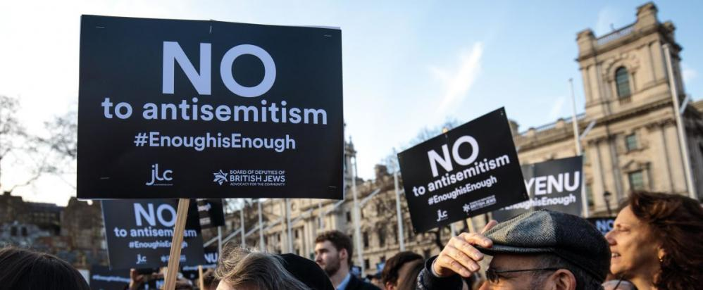 No to Antisemitism rally in London.