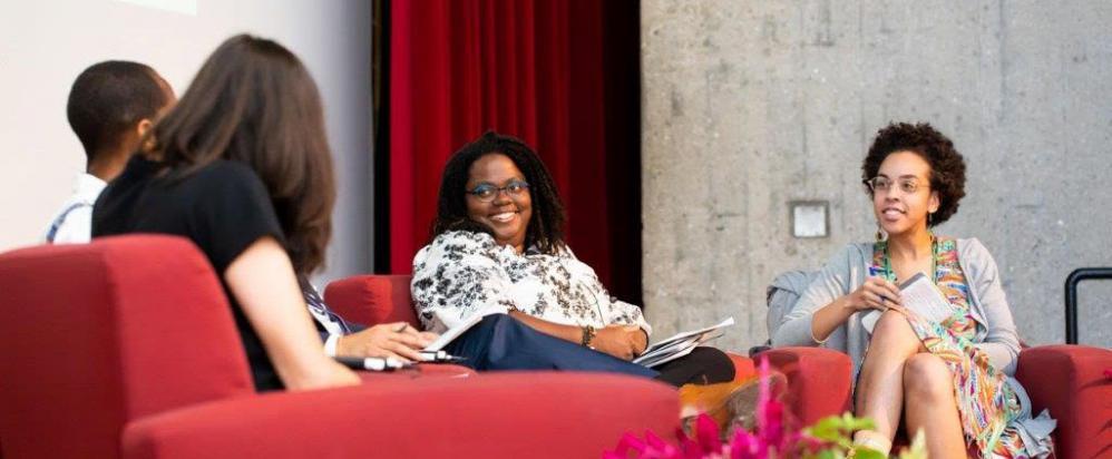 NIOT leader Gwendolyn VanSant talks on a panel in the Berkshires