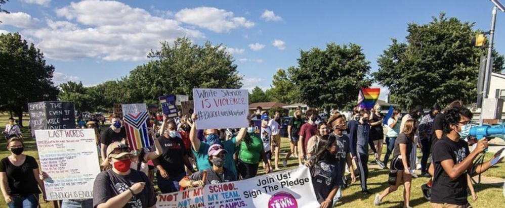 Students in Illinois rallied for Black lives this summer.