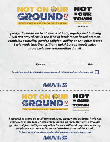 Not On Our Ground | Not in Our Town
