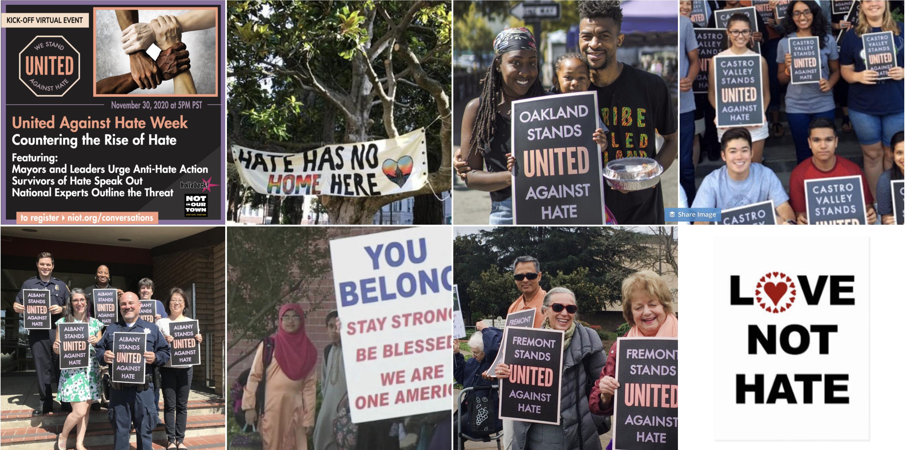 Various United Against Hate Week events
