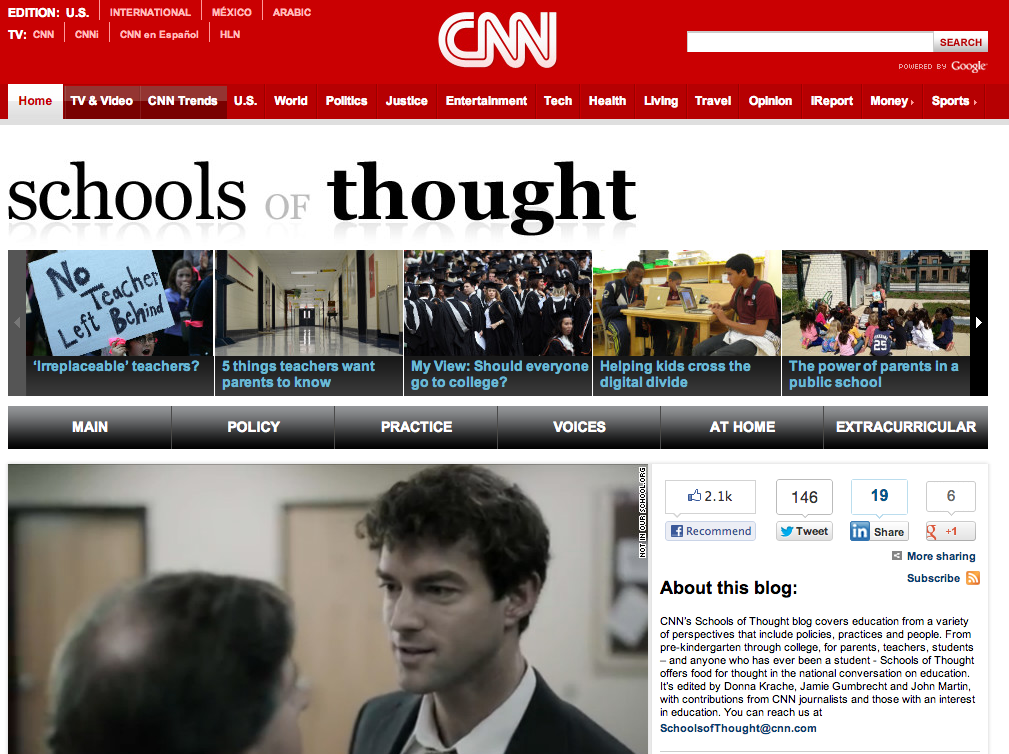 CNN Schools of Thought blog