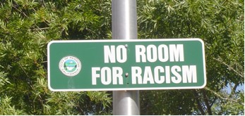 No Room for Racism sign