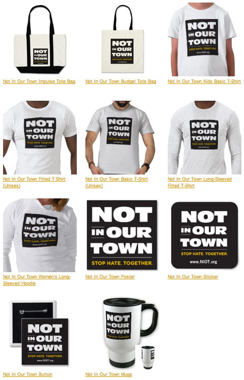 Not In Our Town store: T-shirts, bags & more